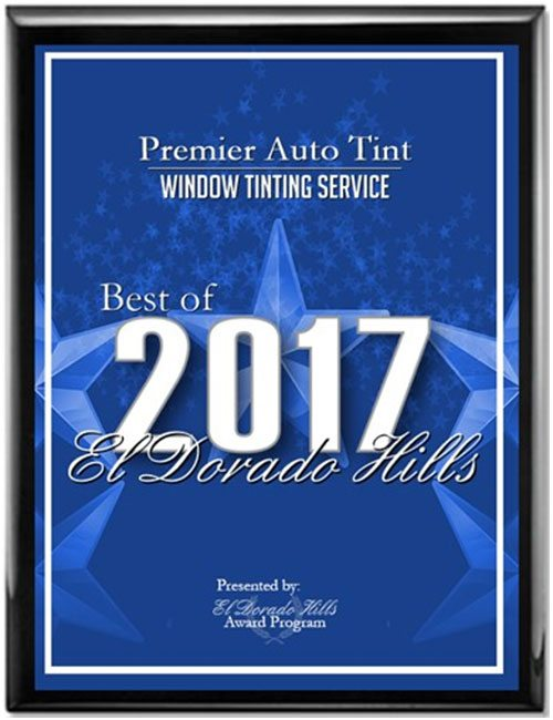 2017 Best of El Dorado Hills Award for Window Tinting Services Awarded to Premier Auto Tint.