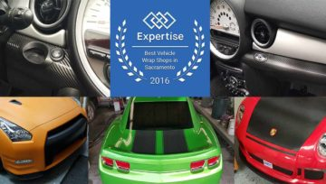 Premier Auto Tint Awarded 2016 Best Vehicle Wrap Shops in Sacramento, CA