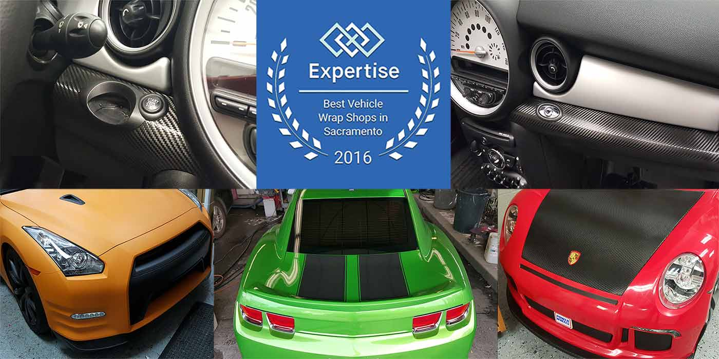 """Premier Auto Tint was named a winner of the Expertise.com """"2016 Best Vehicle Wrap Shops"""" Awards taking home Top-10 Honors."""