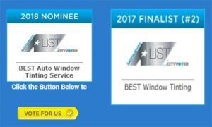 Best Automobile Window Tinting Services Award 2018 Nomination by the Sacramento A-List Award Program for Premier Auto Tint of El Dorado Hills, CA 95762.