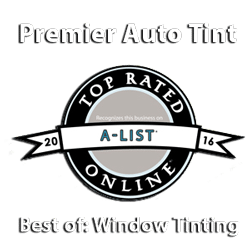 Best Window Tinting Award for Premier Auto Tint by 2016 Sacramento A-List