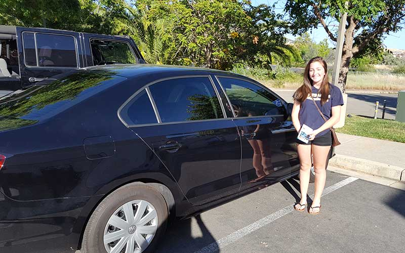 Auto Window Tinting Service for a VW Jetta by Premier Auto Tint