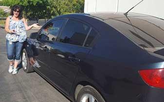 Auto Window Tint Film Installation Services on this Mazda by Premier Auto Tint of El Dorado Hills, CA 95762.