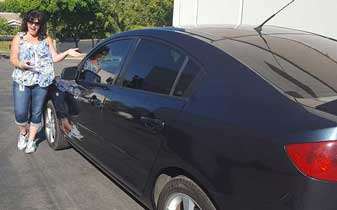 Auto Window Tint Film Installation Services on this Mazda by Premier Auto Tint of El Dorado Hills, CA 95762.