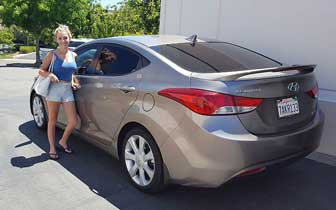 Auto Window Tint Film Installation Services on this Hyundai Elantra by Premier Auto Tint of El Dorado Hills, CA 95762.