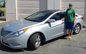 Auto Window Tint Film Installation Services on this Hyundai Sonata by Premier Auto Tint of El Dorado Hills, CA 95762.