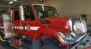 Vehicle Tinting Service for a CalFire Truck by Premier Auto Tint. El Dorado Hills, CA 95762.